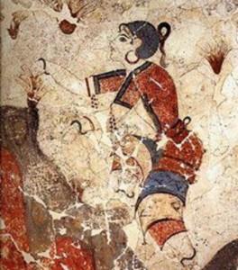 zafferano nell'antica grecia